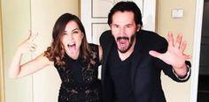Ana de Armas and Keanu Reeves