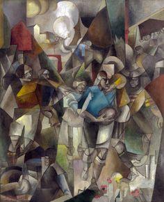 Albert Gleizes (French, 1881-1953), Les Joueurs de football [Football Players], 1912-13. Oil on canvas, 225.4 x 183 cm. National Gallery of Art, Washington D.C.
