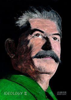 Portrait from the serie, world leader Joseph Stalin, World Leaders, Oil On Canvas, Modern Art, Portrait, Painted Canvas, Portrait Illustration, Oil Paintings, Contemporary Art