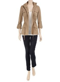 Love this jacket Cute Outfits With Jeans, Jean Outfits, Work Outfits, Casual Outfits, Safari Jacket, Lingerie Outfits, Petite Outfits, Woman Style, Everyday Outfits