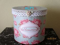 paso a paso de mis trabajos (pág. 135) | Aprender manualidades es facilisimo.com Tin Can Crafts, Diy Crafts, Hat Boxes, Bird Cages, Mason Jars, Projects To Try, Decorative Boxes, Shabby Chic, Girly