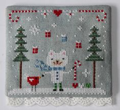 Adorable: http://www.theflossbox.com/store/pattern/christmas-bear-embroidery