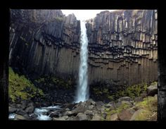 """Visit my ExcitementAdventure shop at etsy dot com for this giclee photographic print of Svartifoss! You choose the size! All orders must be under 17"""" inches in height or width. I can customize any size for your frame, so long as it is under 17"""" inches. All work is printed on archival paper with inkjet. (Frame not included.) Thank you so very much for taking an interest in my work. I look forward to bringing you more paintings, drawings, and three-dimensional work in the future!"""