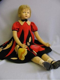 Lenci Doll ~ I love her dress!
