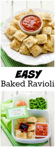 Easy Baked Ravioli from LauraFuentes.com