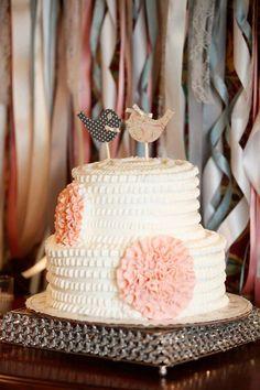 "Handmade Custom Wood ""Love Birds"" Cake Topper , Paisley, Wedding, Polka Dots on Etsy, $20.00"
