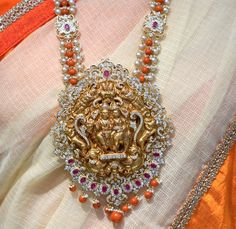 The collection showcased here is all about coral beads and diamond sets by the boutique of Raj diamonds. Indian Jewellery Design, Indian Jewelry, Jewelry Design, Handmade Jewellery, Latest Jewellery, Coral Jewelry, Beaded Jewelry, Silver Jewelry, Glass Jewelry