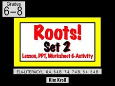 This Roots and Affixes lesson comes complete with: an EATS lesson plan, a PowerPoint, a printable worksheet (this includes an exit ticket), five pages of Frayer organizers for students to fill in, five pages of  completed Frayer organizers to use as samples, AND a super-fun activity called Root Profile where a student creates a profile for one root!