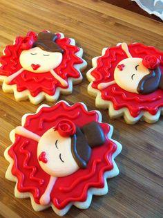 Dancing girl cookies by Heidissweetshoppe on Etsy