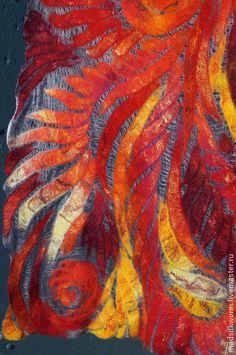 """Шали, палантины ручной работы. Ярмарка Мастеров - ручная работа """"Феникс"""" тонкий нарядный палантин. Handmade."""