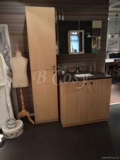 ll-bath-045w-landelijke cottage stijl enkele badkamerkast met arduinen blauwe hardsteen tablet wastafel