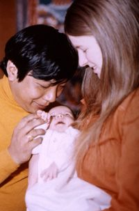 Trungpa with Diana and Son