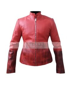 Elizabeth Olsen aka Black Widow in Avengers Movie, so here is a here Red leather jacket that she worn in movie, This jacket is for stunning women who wants to boost there looks.