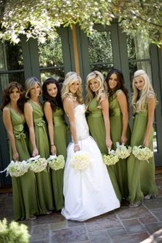 Green Wedding Party Dresses