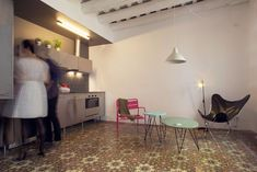 Casa Roc, Apartment in Gothic Quarter, Barcelona - 2012 - Nook Architects Small Apartment Interior, Apartment Design, Nook Architects, Barcelona, Small Apartments, Interior Design Inspiration, Architecture, Home Decor, Cement Tiles