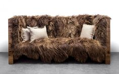Long Wool Sofa by Sentient Furniture.  How would one ever find the dog?