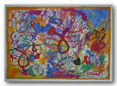 Aquarell Original Energiebild Heilbild Herzkraftbild Chakra - Farben 100 x 200 in Möbel & Wohnen, Dekoration, Feng Shui | eBay