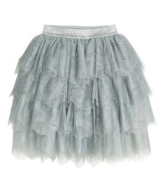 Grey Tulle Skirt for Lena to wear. Pair with a simple white, blue or denim top & boots or flats.