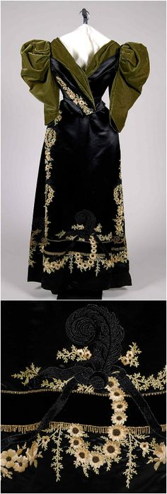 Evening dress by Rouff, c. 1895, at the Met. See: http://www.metmuseum.org/collections/search-the-collections/173497?img=0