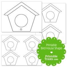 Here is a cute printable bird house shape template for your Spring crafts and activities. These bird house templates make a good coloring page for kids. Print the large bird house out and have House Colouring Pages, Bird Coloring Pages, Coloring Pages For Kids, Bird Template, Shape Templates, Art For Kids, Crafts For Kids, Art Children, Birdhouse Craft