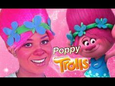 """POPPY"" TROLLS Movie Makeup Tutorial   Kindly Kiana - YouTube"
