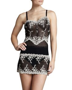 Embrace Lace Chemise, Black - Wacoal