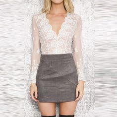 Email+me+the+size+you+need+please.+Thank+you Sizes-S,M,L,XL Lace+Women+Solid+White+Lace+Blouse+Transparent+Mesh+Emlroidery+V-Neck+Cut+Out+Shirt+Crochet+Sexy+Plunge+Neck+Blouse+Shirt