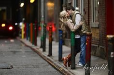 i like the view down the street. why are they all kissing. :(