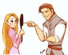 Rapunzel and Flynn Rider Rapunzel Y Flynn, Rapunzel And Eugene, Disney Rapunzel, Arte Disney, Disney Fan Art, Disney Magic, Eugene Tangled, Tangled 2010, Disney Princesses