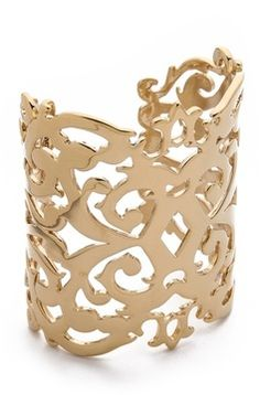 Juicy couture Gold Openwork Wide Cuff on shopstyle.com