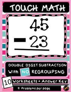 Touch Math Addition Single Digit Worksheets   10., It is and Student
