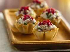 Cranberry-Chicken Fillo Cups