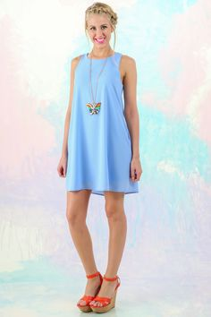 Spring Perfection! Must have, sky dress! The perfect pop of color! Love!