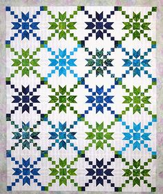 Sew Fresh Quilts: Stepping Stones Quilt Block Tutorial ~ Cream back ground with country reds, greens or blues, browns,. Quilting Tutorials, Quilting Projects, Quilting Designs, Quilting Tips, Craft Projects, Star Quilt Blocks, Star Quilts, Block Quilt, Quilt Top