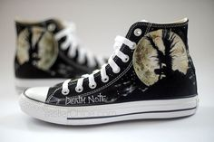 Painted Converse Manga Anime Shoes Personalized by atelierChloe
