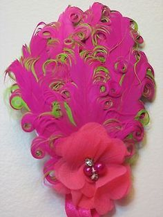 Baby Kid Girl Toddler Feather Pink Green Headband Hair Accessories b33-48
