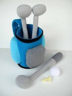 Crochet Pattern  GOLF SET  Toys/ Deco/ Sports  PDF by skymagenta, $5.99