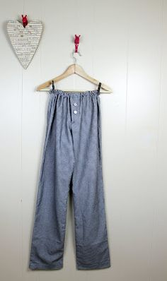 Hello Beautiful: How to Sew Pajama pants {tutorial}