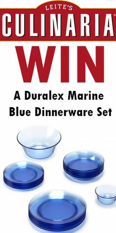Win a Duralex Marine Blue Dinnerware SetLove the blue!