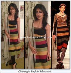 Chitrangda Singh in Sabyasachi - her dress is better than the model's Salwar Kameez, Kurti, Indian Fashion, Womens Fashion, Designer Salwar Suits, Sabyasachi, Anarkali Suits, Saree Blouse Designs, Celebs