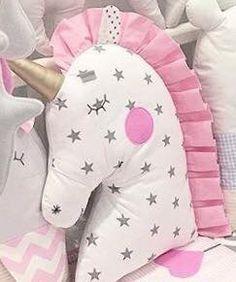 New Sewing Pillows Star 48 Ideas - Kids Pillows - Ideas of Kids Pillows Sewing Toys, Baby Sewing, Sewing Crafts, Sewing Projects, Cute Pillows, Baby Pillows, Kids Pillows, Unicorn Pillow, Unicorn Cushion