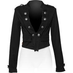 Gothic clothing shop: military short jacket for women
