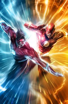 The Incredible Hulk might be the strongest one there is in the Marvel universe, but some of these DC characters might give him a run for his money. Kid Flash, Flash Art, Flash Comics, Arte Dc Comics, Marvel Comics, Flash Wallpaper, Univers Dc, Wally West, Dc Comics Characters