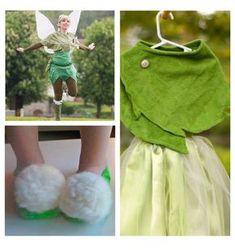 Disfraz de campanilla para niña hecho a mano, fácil y barato de hacer. En este post encontrarás ideas y patrones para que hagas tu disfraz.