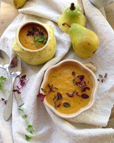 Roasted Pear Soup Recipe | CiaoFlorentina.com @CiaoFlorentina