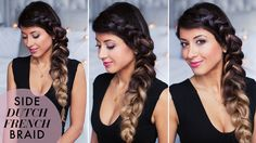 Easy Effortless Everyday Side Dutch French Braid | Voluminous and super cool hairstyle created with Ombre Blonde Luxy Hair Extensions. Click to see the full tutorial!   #LuxyHairExtensions