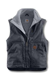 $94.99 Carhartt Mens V33 Mock Neck Vest - Gravel  http://camouflage.ca