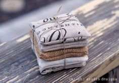 Lavender sachets with tutorial. A simple and wonderful gift for friends with adorable style.