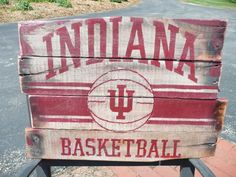 Indiana Hoosiers Basketball Pallet Sign on Etsy, $40.00