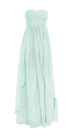 Sweetheart Long Chiffon Dress - This in a deep green, deep blue, or blush pink would be stunning!